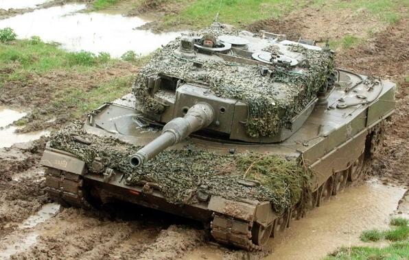 Картинка оружие, фон, танк