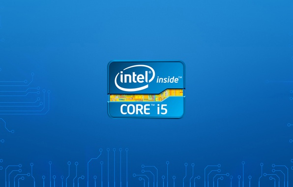 Картинка logo, intel, hitech, intel i5
