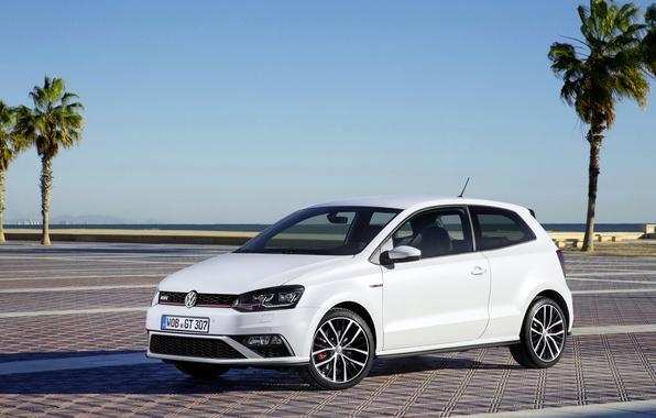 Картинка белый, фото, Volkswagen, автомобиль, 2014, Polo GTI