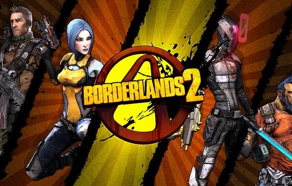 Картинка logo, Maya, RPG, 2K Games, Borderlands 2, Gearbox Software, Zer0, Unreal Engine 3, Salvador, Axton, …