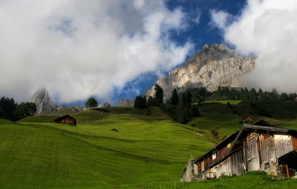 Картинка landscape, autumn, mountain, alps, switzerland