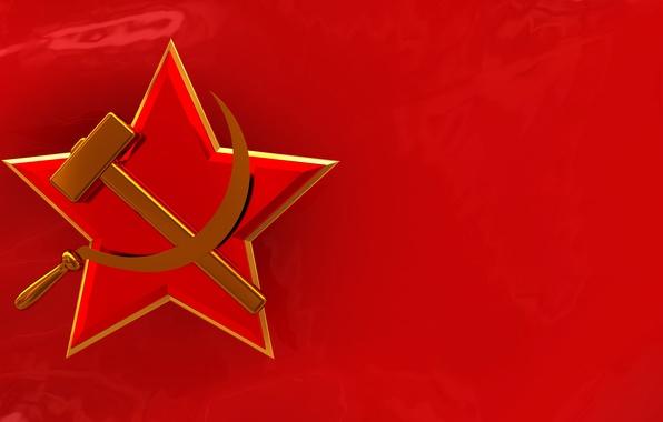 Картинка красный, флаг, символ, СССР, серп и молот