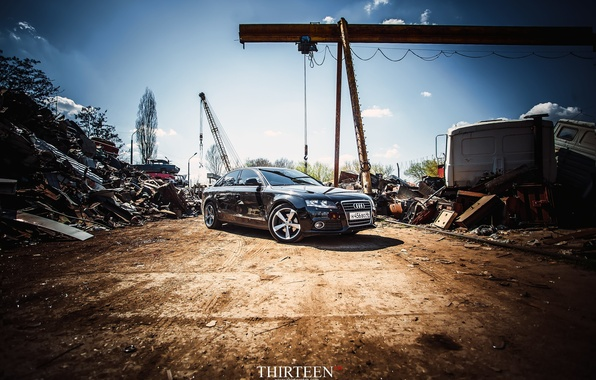 Картинка машина, авто, Audi, перед, седан, auto, металлолом, sedan, Курск