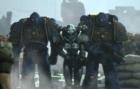 Картинка Space Marine, Warhammer 40.000, trio