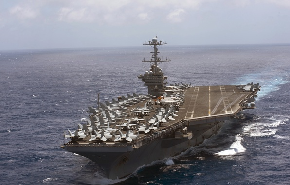 Картинка море, оружие, USS Harry S. Truman, aircraft carrier, CVN 75