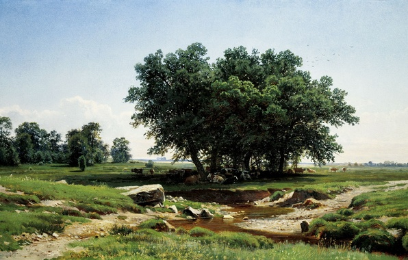 Картинка картина, Шишкин, В тени