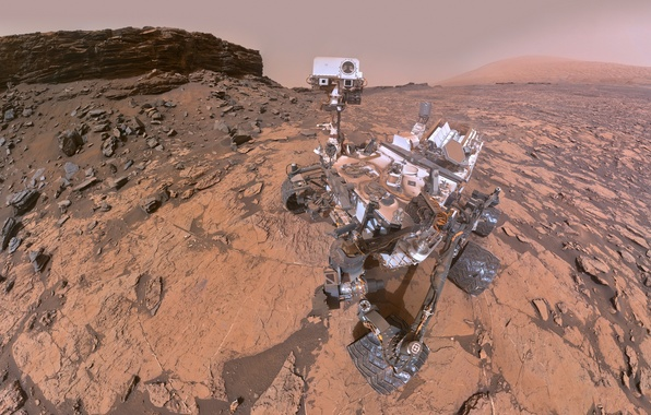 Фото обои Curiosity, Кьюриосити, Марс, марсоход