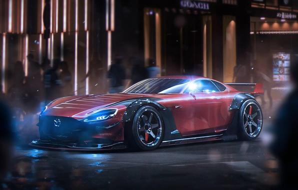 Картинка Concept, Mazda, Tuning, Future, by Khyzyl Saleem, RX-Vision