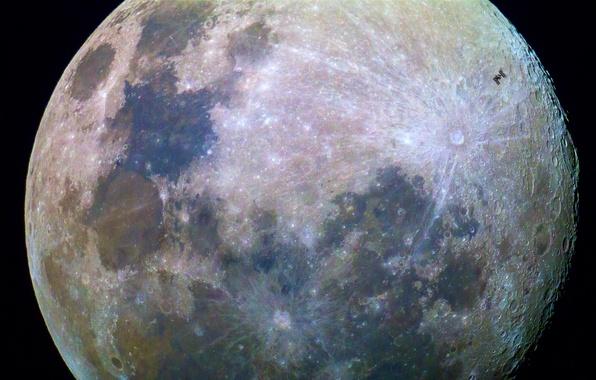 Картинка поверхность, луна, спутник, Moon, контуры