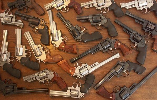 Картинка оружие, пистолеты, железо, револьверы