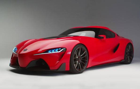 Картинка красный, concept, автомобиль, спорт-купе, Toyota FT-1