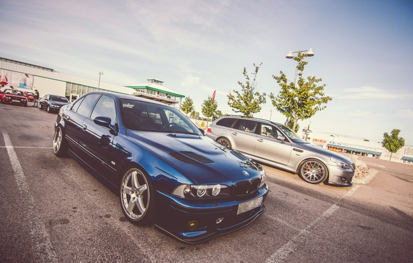 Картинка BMW, Синяя, Седан, E39