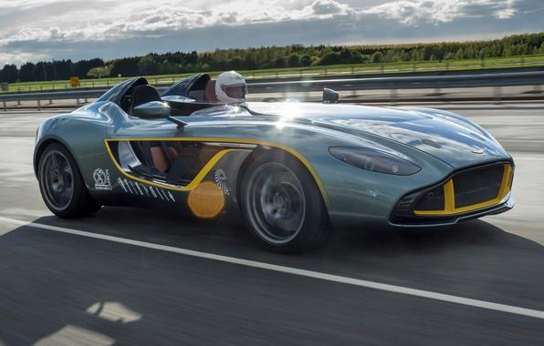 Картинка car, Aston Martin, road, speed, CC100, Speedster Concept