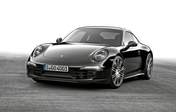 Картинка купе, 911, Porsche, черная, порше, Black, Coupe, Carrera, 2015