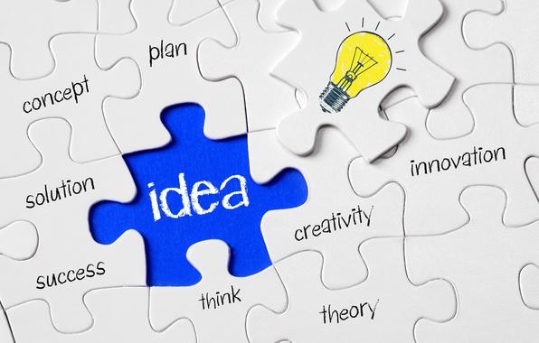 Картинка лампочка, поверхность, мозаика, креатив, мысль, позитив, конструктор, элемент, пазл, puzzle, головоломка, wallpaper., найденный, задачка, good …