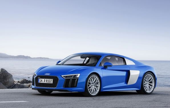 Картинка синий, Audi, ауди, V10, 2015