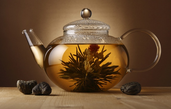 Картинка чай, чайник, заварка