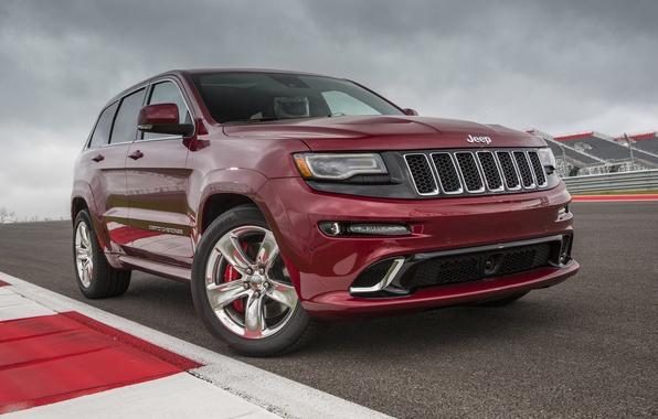 Картинка car, трасса, автомобиль, track, SRT, Jeep, Grand Cherokee