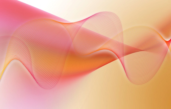 Фото обои волна, краски, объем, дуга, изгиб, узор, линии