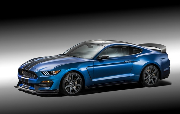Картинка фото, Mustang, Ford, Shelby, Тюнинг, Голубой, Автомобиль, 2015, GT350R, Металлик