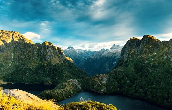 Картинка горы, скалы, Новая Зеландия, New Zealand, фьорды, Fiordland National Park