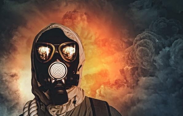 Картинка survivor, gas mask, pollution