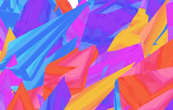 Фото обои цвет, краски, линии, фигура