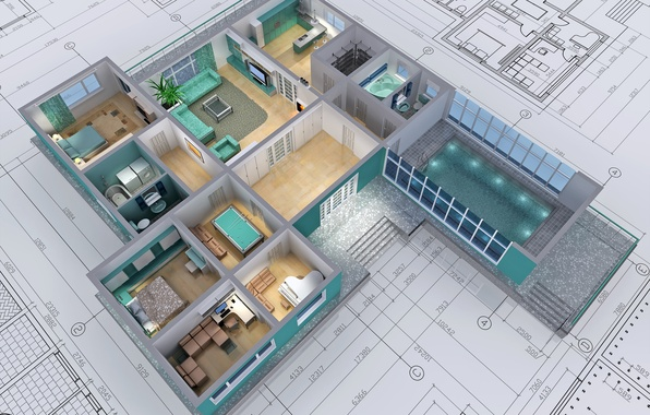Картинка design, architecture, drawings, housing