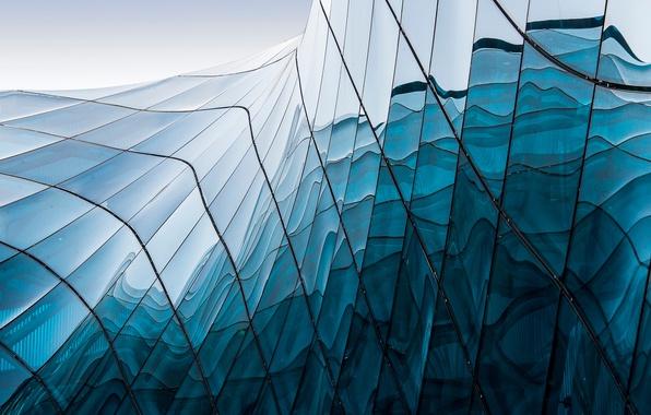 Картинка стекло, город, здание, текстура, архитектура