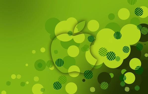 Картинка цвет, apple, круг, телефон, эмблема, объем, гаджет, hi-tech, смартфон