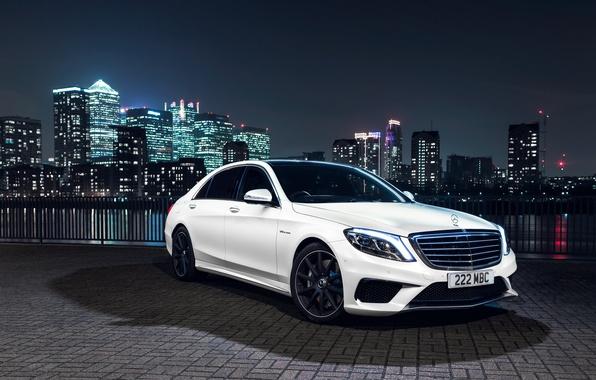Картинка Mercedes-Benz, AMG, S 63, UK-spec, 2013, W222