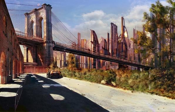 Картинка Будущее, Бруклин, Рисованая