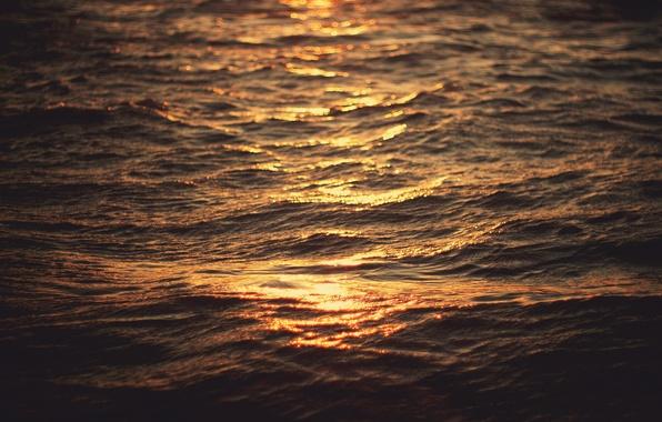 Картинка море, волны, вода, макро, свет, боке, ethanea рhotography