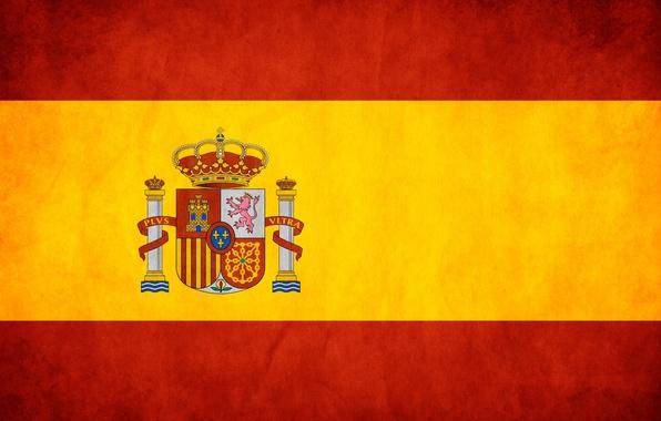 Картинка красный, жёлтый, флаг, испания, spain
