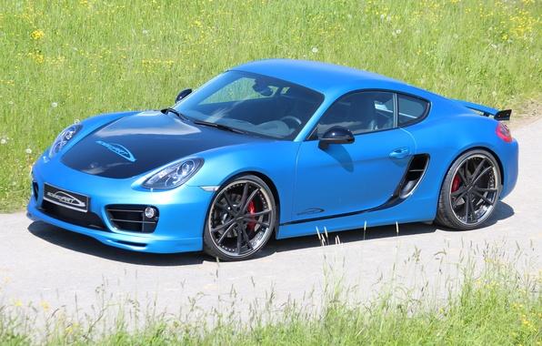 Картинка car, машина, Porsche, Cayman, blue, tuning, SpeedART, SP81-CR