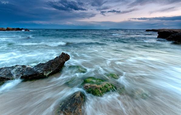 Картинка камни, Испания, Spain, Средиземное море, Cabo de las Huertas, Alicante, Кабо-де-лас-Уэртас, Аликанте