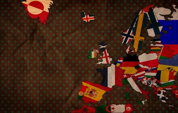 Картинка креатив, фон, страны, обои, текстура, арт, флаги, европа, картинка, изображение