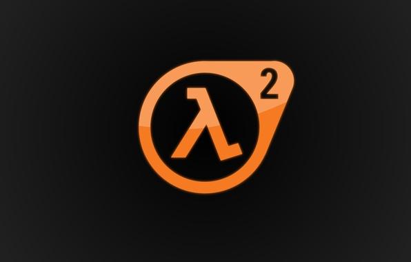 Картинка логотип, Half-Life 2, Valve, Logo, лямбда, orange, Game, Lambda, Халф-Лайф