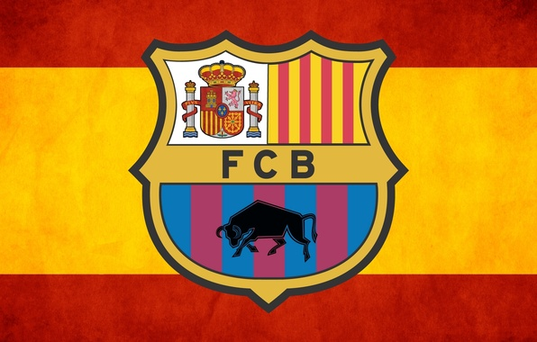 Картинка клуб, эмблема, logo, Испания, club, бык, Барса, Spain, FC Barcelona, ФК Барселона, Barca