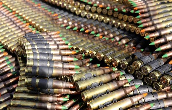 Картинка лента, патроны, боевые, пулями, трассирующими, пулемётная