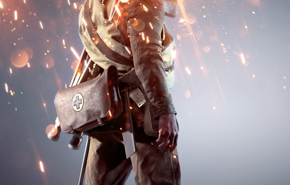 Картинка Огни, Военный, Electronic Arts, DICE, Экипировка, Медик, Frostbite, Battlefield 1, Батлфилд 1, Battlefield One