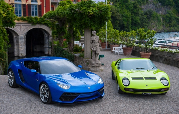 Картинка Lamborghini, and, Miura, supercars, Asterion, LPi-910