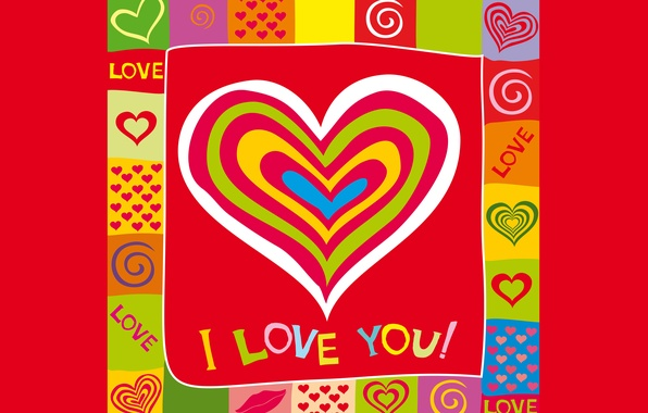 Картинка любовь, colorful, сердечки, love, I love you, background, romantic, hearts, sweet
