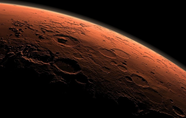 Фото обои планета, Луна, кратер
