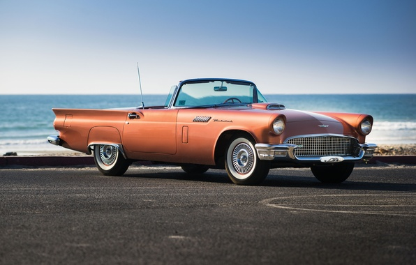 Картинка море, Ford, форд, классика, Special, 1957, Supercharged, Thunderbird, T-Bird