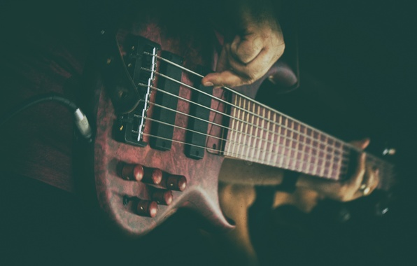 Картинка гитара, струны, бас