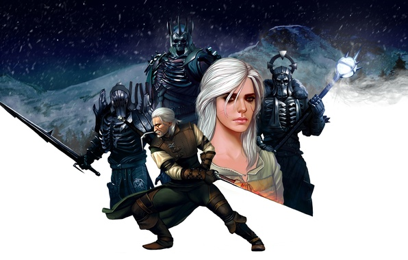 Картинка девушка, арт, броня, ведьмак, rpg, geralt, Gwynbleidd, CD Projekt RED, The Witcher 3: Wild Hunt, …