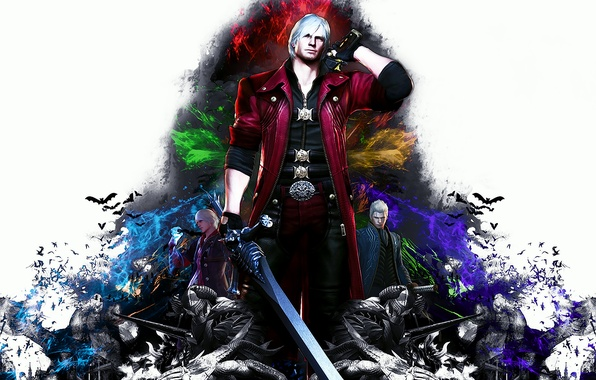 Картинка demon, nero, dante, capcom, vergil, Devil May Cry 4: Special Edition