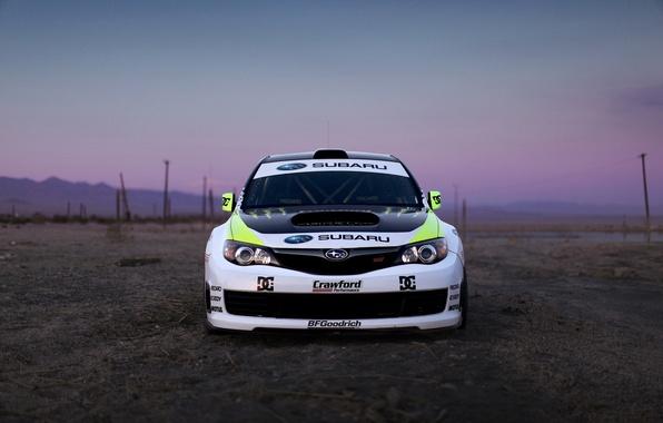 Фото обои авто, вечер, Subaru, Impreza