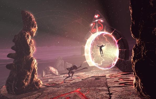 Картинка фантастика, портал, миры, врата